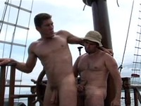 Horny Sailors Fuck On The Deck
