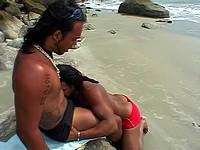 Long Haired Latino's Fuck At The Beach