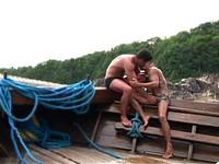 Latino Muscle Studs Fuck On A Boat