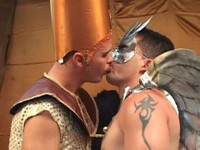 Two Horny Costumed Studs Fuck