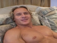 Blonde Muscle Stud Jerks Off