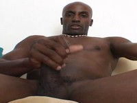 Muscular Ebony Stud Jerks Off