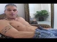 Grey Haired Stud Jerks His Cock