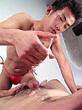 Double Asian Blowjob